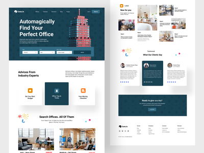 Cuna.io - Co working & Office space Website . design website design ux ui minimal product design agency company office space coworker corporate coworking working space office design landing page website homepage coworking space