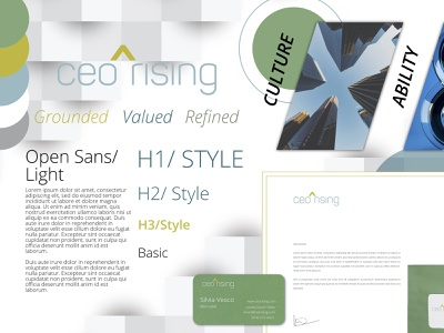 Ceo Rising Spicy Brand Sprint by Andrew Roze corporate personable spiritual premium drew roze roze andrew agile design style guides marketing design grounded refined valued logo stylescape brand identity design affinity photo affinity serif branding design