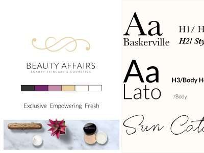 Beauty Affairs Brand Sprint by Andrew Roze magazine design stylescape skincare luxury cosmetic branding beauty affinity photo beauty products roze ocampos elias andrew fresh empowering exclusive logodesign rebranding marketing design identity design brand design