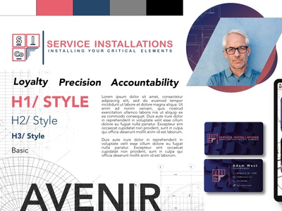 Service Installations Brand Sprint, Spicy Variant logodesign architecture architect grid affinity photo brand guide identity brand guide andy drewroze service installation blueprint engineering loyalty accountability precision modern affinity designer style guide stylescape branding design