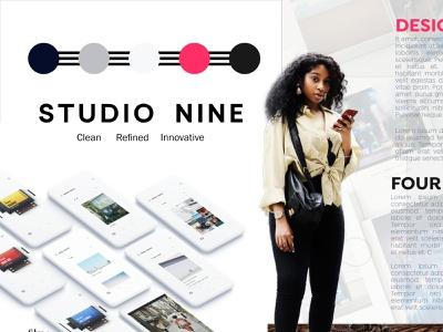 Studio Nine Style Exploration, Light Theme style tile styles visual identity youthful