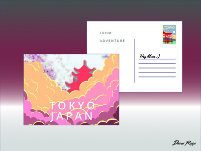 Tokyo Postcard Weekly Warm Up 04-06-2020 print design printing stationary post cards postcard project postcardproject postcard design japan tokyo weeklywarmup postcard
