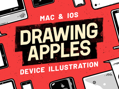 Drawing Apples - Mac & iOS Device Illustrations + Patterns