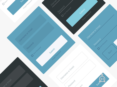 Flat UI Web Form Designs