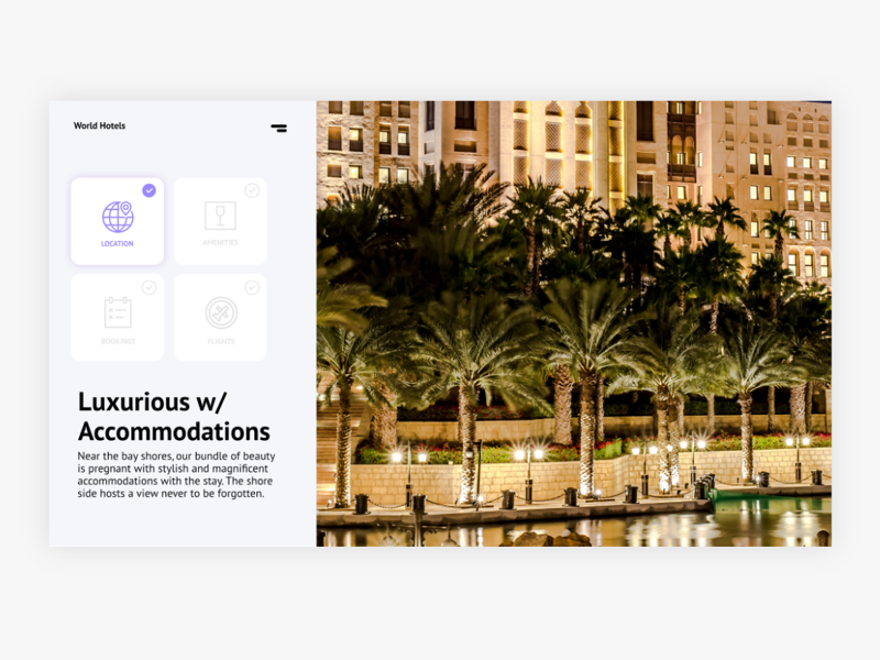 Hotel Front Page flat colors beautiful design clean design modern design flat design home page front page hotel site hotel website ux design ui design