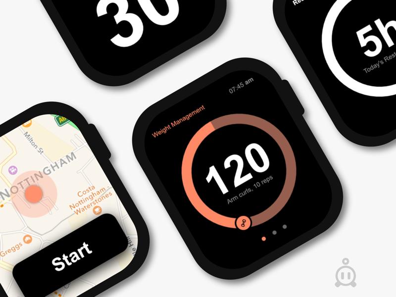 Apple Watch UI web designer designer web design ux design ui design app design apple watch ui design apple watch interface design apple watch