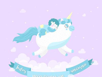 Unicornio unicorn childrens illustration children magic vectors illustration art digitalart design vector illustrator illustration