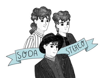 SODA STEREO music illustration art digitalart vector illustrator illustration