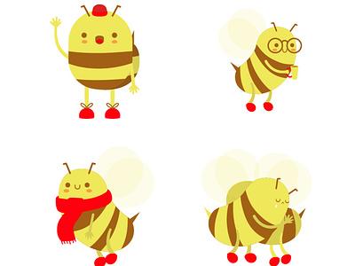 Bees for spring vectors illustration art children digitalart childrens illustration illustrator vector illustration