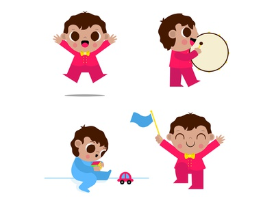Baby Emiliano part. 1 children digitalart childrens illustration vectors illustrator illustration