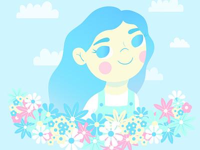 Birthday girl children childrens illustration digitalart illustration art illustrator vector illustration