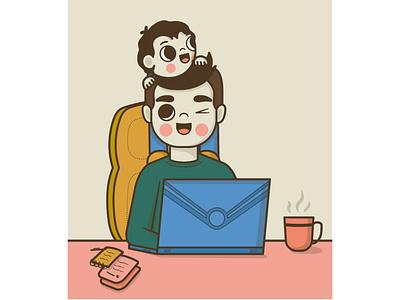 Father's day children childrens illustration vectors illustration art digitalart vector illustrator illustration