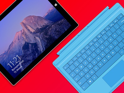 Surface Pro 3 template ms microsoft surface mock-up template flat