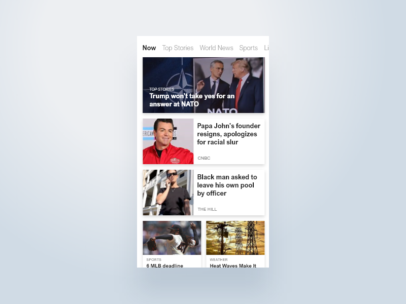 Daily UI #094 dailyui ui newsletter app news