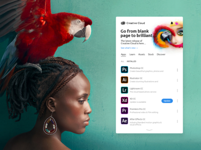 Adobe CC Client redesign [2nd concept]