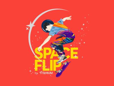 Space Flip T-Shirt Artwork