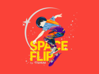 Space Flip T-Shirt Artwork