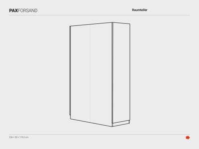 Ikea PAX/FORSAND room divider