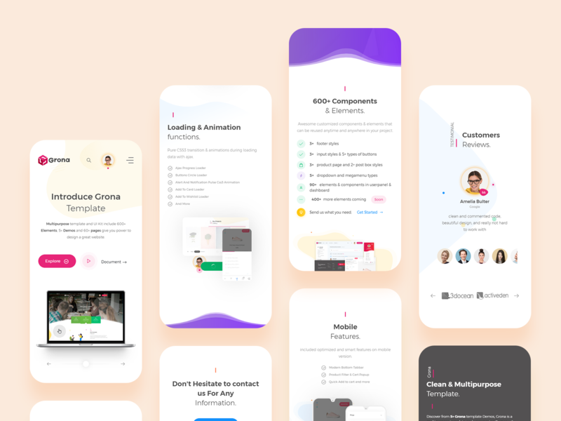 Mobile Views | Landing Page responsive theme landing app design mobile app design mobile app mobile app landing page creative design dribbble ux ui bootstrap template bootstrap 4 template
