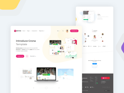 Grona | Bootstrap template theme bootstrap illustration ui ux product design design creative bootstrap template template