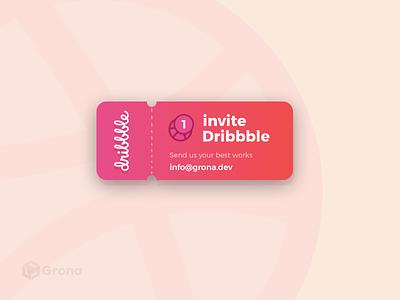 Dribbble Invite dribble invitation ux designer ui designer design dribbble dribbble invite invite