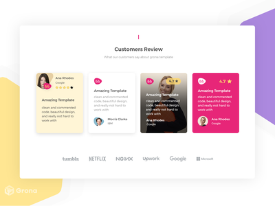 Customers Reviews ui design template template design review box user review grona template grona creative logo carousel product design comment box comment review customer customer review