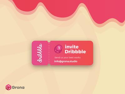 Dribbble Invite dribble invite dribbble invites vector design dribbble invitation invitation invite dribbble invite dribbble