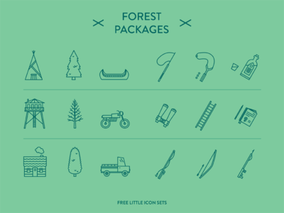 Forest Packages - Little icon sets icon illustration icon design picto graphic design sets free