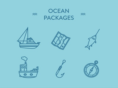 Ocean Packages - 20 free icons