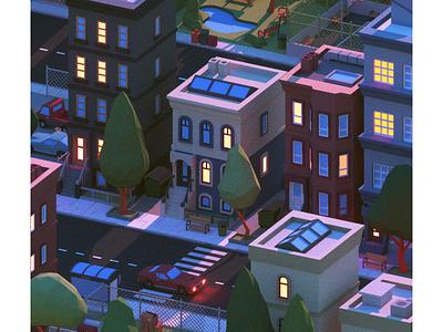 Forever Morning 🌅 morning octane cinema4d city 3d c4d animation illustration