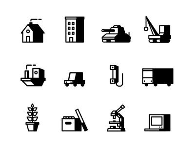 New Icons Set picto illustration design vector icon