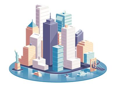NRG - NY droga5 nrg vector city illustration new york ny