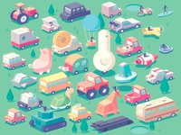 Stickman Rush - Vehicles