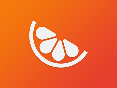 Mandarin logo mandarin chat logo icon flat vector messenger orange fruit glyph