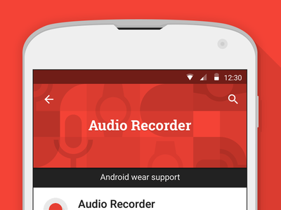 Google Play Banner illustration flat google android material pattern banner promo audio record google play