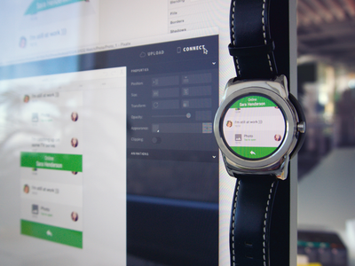 Playing with Pixate material javascript js prototype smart watch wear android proto pixate