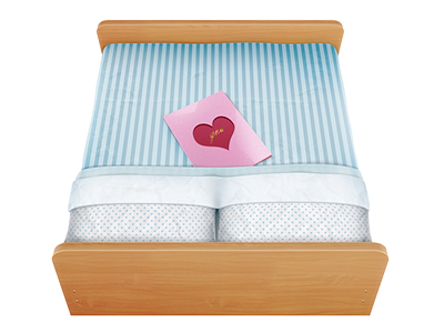 Bed dribbble