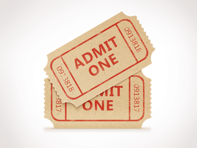 Movie Ticket admit one ticket tkt icon set pack shapes icons kit movie cinema movie theater photoshop paper freebies pixel psd free illustration