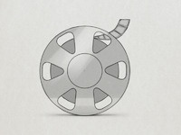 Film reel sketch