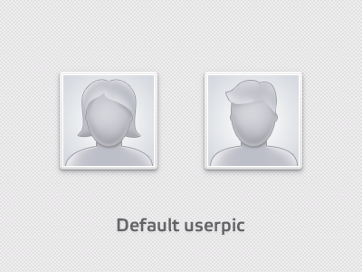 Default userpic avatar pic userpic icon thumbnail no photo shapes