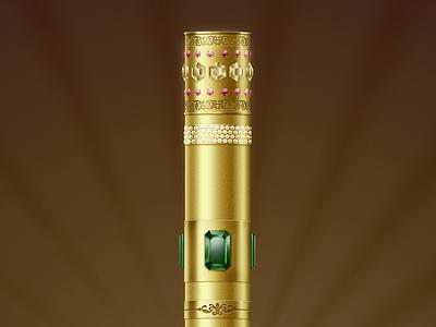 Gold stick diamonds metal gold ipad retina game twang stick jewelry emerald ruby photoshop