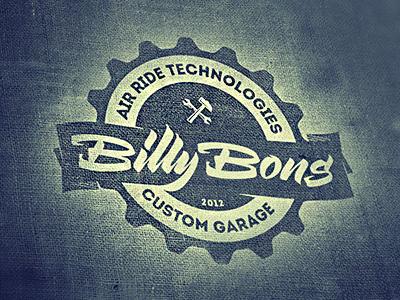 Billy Bons lettering logo hipsta round customs