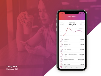 Young Bank - Dashboard UI banking visual design ui design dashboard ui dashboard ui
