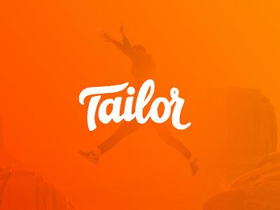 Tailor calligraphy branding logo travel