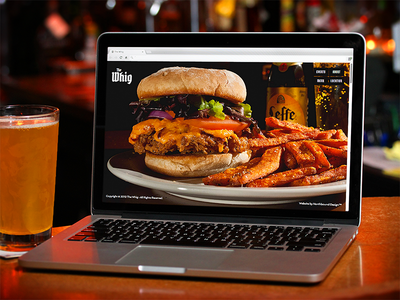The Whig website bar responsive food restaurant parallax