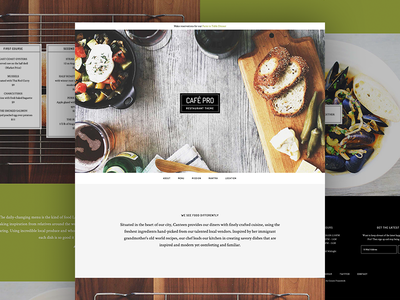 Café Pro Theme website layout genesis framework wordpress theme