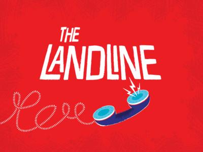 The Landline illustration logo mid century saul bass