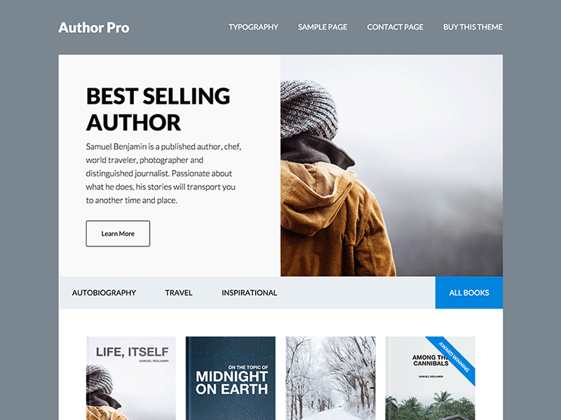 Author Pro Theme genesis framework wordpress theme website split layout