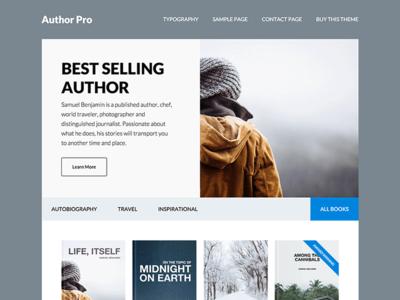 Author Pro Theme genesis framework wordpress theme website split layout