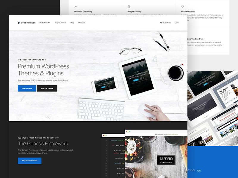 Redesign of StudioPress themes wordpress genesis framework layout website